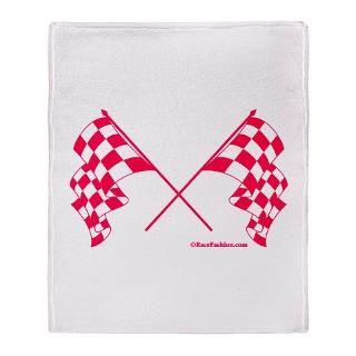 pink crossed checkered flags stadium blanket $ 61 49