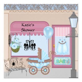 Victorian Baby Shower Invitation for Boy