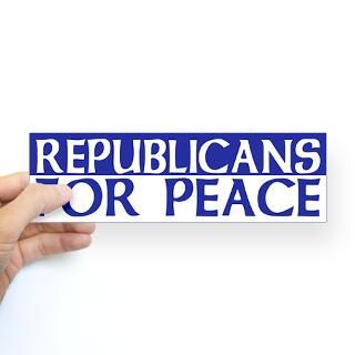 republicans for peace bumper sticker $ 4 65 color white clear qty