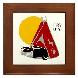 66 Gifts  66 Home Decor  Route 66 Tipi Framed Art Tile