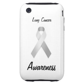Lung Cancer Awareness iPhone Cases, Lung Cancer Awareness iPhone 5, 4