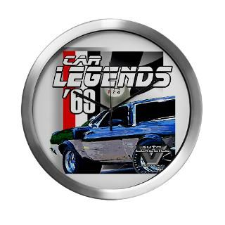 1965 Gifts  1965 Home Decor  Mustang Legends 69 Modern Wall Clock
