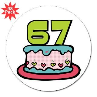Happy 67Th Birthday Stickers  Happy 67Th Birthday Bumper Stickers