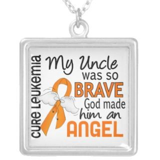 Leukemia Orange Ribbon Necklaces, Leukemia Orange Ribbon Necklace