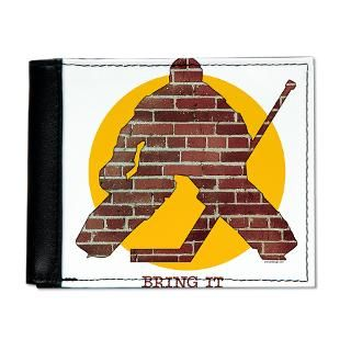 Brick Wall Hockey Goalie iPhone Wallet Case