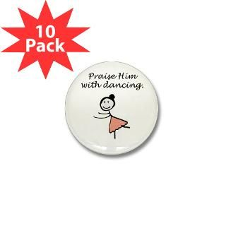 praise him with dancing mini button 100 pack $ 85 00
