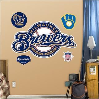 milwaukee brewers logo fathead wall graphic $ 89 99
