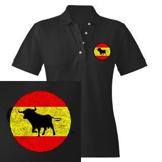 spain bull flag women s polo embroidered $ 32 95