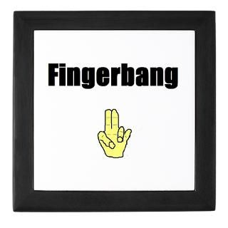 Fingerbang Rectangle Sticker