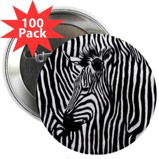 Gifts  Buttons  Zebra Striped 2.25 Button (100 pack)