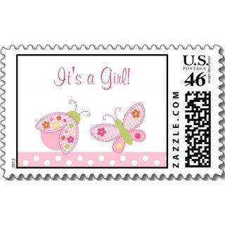 Ladybug Butterfly Baby Shower Favor Gift Tags Business Card