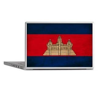 Art Gifts  Art Laptop Skins  Cambodia Flag Laptop Skins