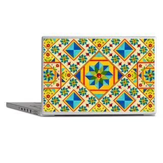 Art Gifts  Art Laptop Skins  Rolling Star Quilt Design Laptop