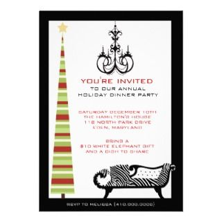 Annual Holiday Dinner Party Invitations