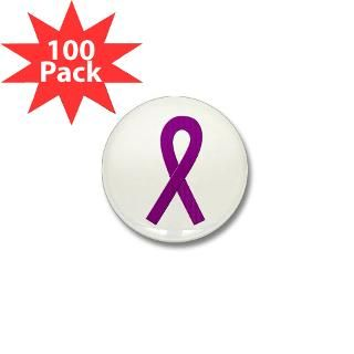 Purple Ribbon Mini Button (100 pack) for $125.00