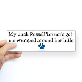Funny Jack Russell Stickers  Car Bumper Stickers, Decals