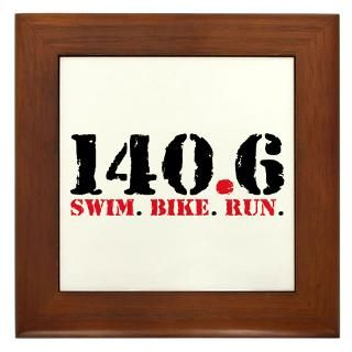 140.6 Swim Bike Run Framed Tile for $15.00