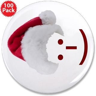 smiley emoticon santa hat 3 5 button 100 pack $ 147 99