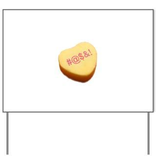 Curse Word Symbols on a Candy Heart : American Angst