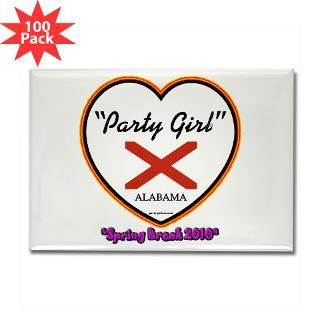 party girl usa spring break alabama rectangle magn $ 151 99