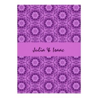 Ornate Flowers Modern Wedding L597 Custom Invitations