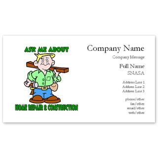Auto glass repair business card for Home improvement business card template