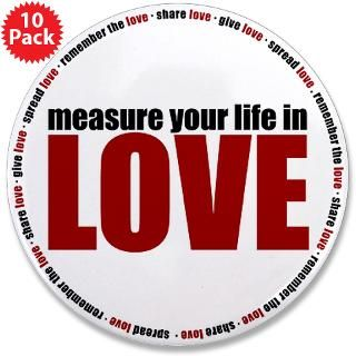 button $ 3 49 measure your life in love 3 5 button 100 pack $ 169 99