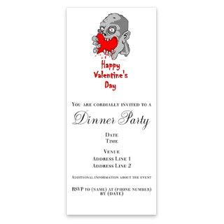 Zombie Happy Valentines Day Invitations by Admin_CP5238485