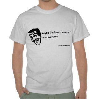 Hate Everyone T shirts, Shirts and Custom I Hate Everyone Clothing