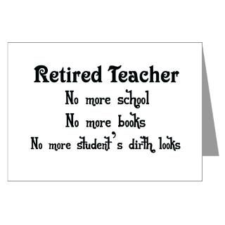 Teacher Retirement Greeting Cards  Buy Teacher Retirement Cards