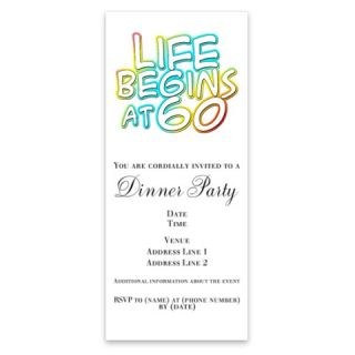 birthday life begins at 60 Invitations by Admin_CP49581  506857502