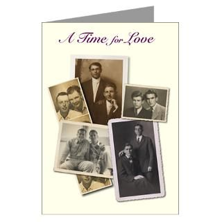 Vintage male couples ivory Greeting Card for