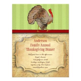 Thanksgiving Turkey Dinner Party Invitations