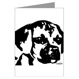 puggle   black & white Greeting Card for