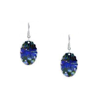 Art Gifts  Art Jewelry  Monet   Water Lilies 1922 Earring Oval Charm