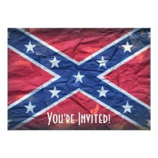 Redneck Confederate Flag Personalized Invitations