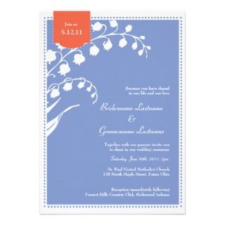 Lily of the Valley Wedding Custom Announcements