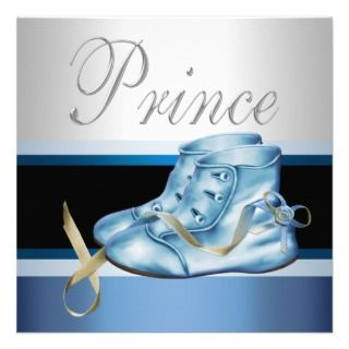 Blue Shoes Black Blue Crown Prince Baby Shower Personalized