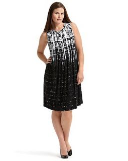 Calvin Klein Plus Size Abstract Print Matte Jersey Dress