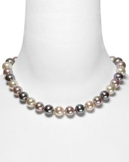 Majorica 12mm Multi Man made Pearl Necklace 17