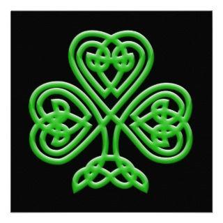Celtic Shamrock Custom Announcement