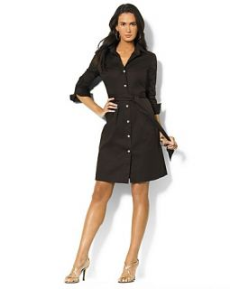 Lauren Ralph Lauren Dress Stretch Cotton Shirt Dress