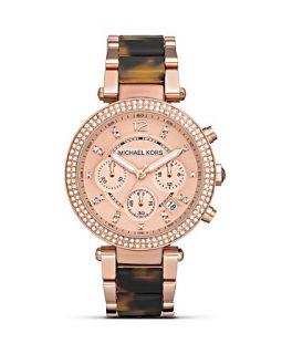Michael Kors Womens Round Ladies Rose Gold Tone Watch, 39mm