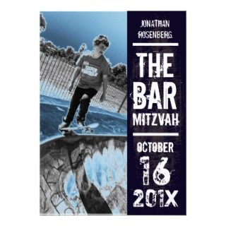 Rock Band Bar Mitzvah Invitation