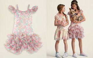 Ralph Lauren Childrenswear Girls Floral Chiffon Dress   Sizes 7 16_2