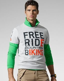 RLX Ralph Lauren Short Sleeved Free Ride Cotton Jersey Crewneck