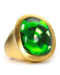 Kenneth Jay Lane Large Peridot Stone Ring