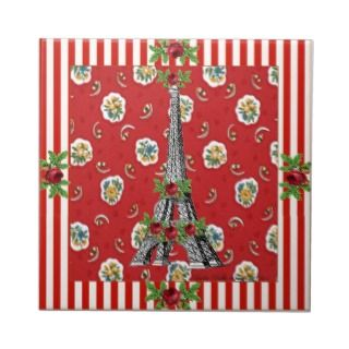 Eiffel Tower ~ The French Countryside Ceramic Tile