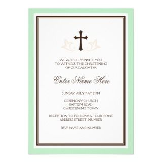 Elegant boys baptism/christening invitation, blue