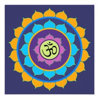 CARD Lotus with Mantra OM MANI PADME HUM Invitations